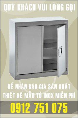 tu inox treo tuong 266x400 - Tủ giường bệnh inox