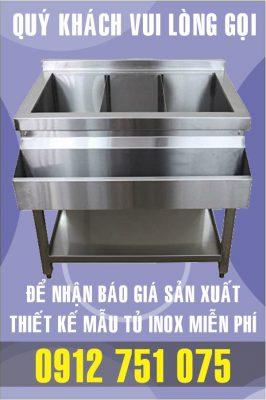 tu pha che inox 266x400 - Tủ inox nhà bếp