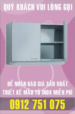 tu treo tuong inox 266x400 - Tủ giường bệnh inox
