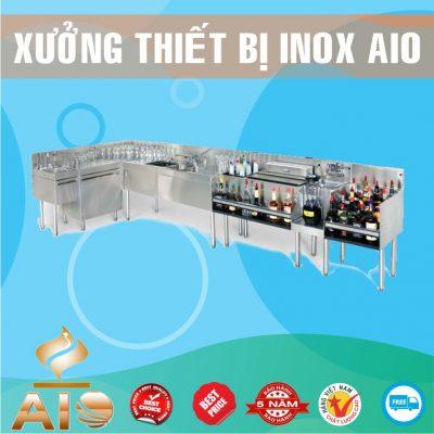 xuong lam quay bar inox 400x400 - Làm tủ inox giá rẻ