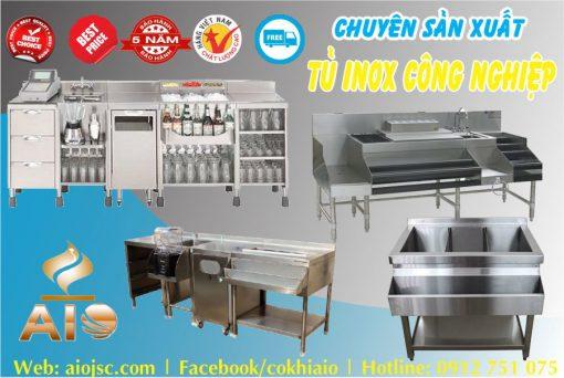 xuong lam tu bep inox 510x342 - Tủ inox nhà hàng