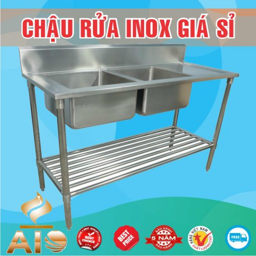 ban chau rua inox gia re 510x510 - Bồn rửa inox đôi