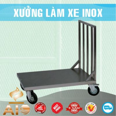 ban xe day inox 400x400 - Xe đẩy nhiều khay dùng trong ngành thực phẩm