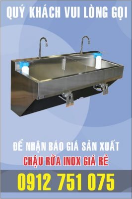 bon rua inox dap chan 266x400 - Bồn rửa mặt inox