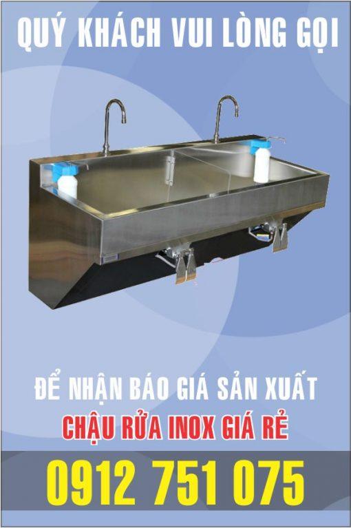 bon rua inox dap chan 510x767 - Chậu rửa inox phẩu thuật