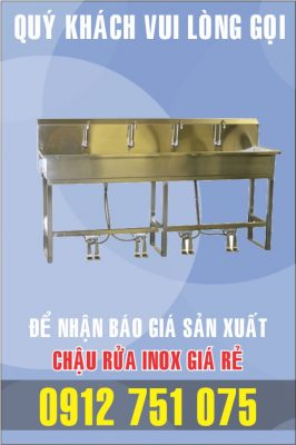 bon rua inox dap chan gia re 266x400 - Bồn rửa mặt inox