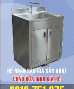 bon rua inox dap chan gia si 247x296 - Tủ rửa chén inox 3 ngăn có bồn rữa giữa