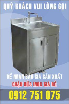 bon rua inox dap chan gia si 266x400 - Bồn rửa inox có bàn chờ phải