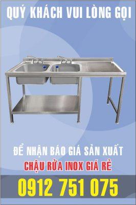 bon rua inox doi co ban phai 266x400 - Xưởng sản xuất chậu inox