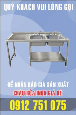 bon rua inox doi co ban trai 266x400 - Bồn rửa mặt inox