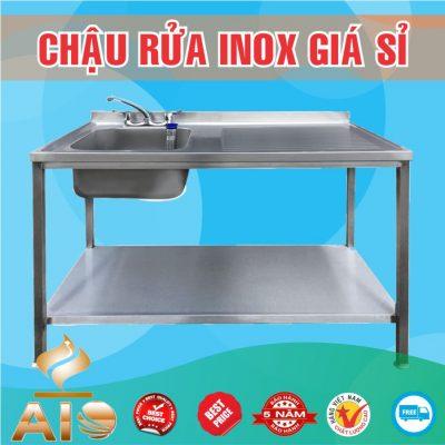 chau rua inox ban 400x400 - Bồn rửa mặt inox