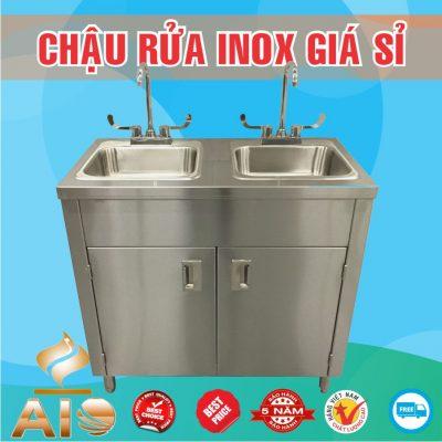 chau rua inox co tu 400x400 - Bồn rửa mặt inox