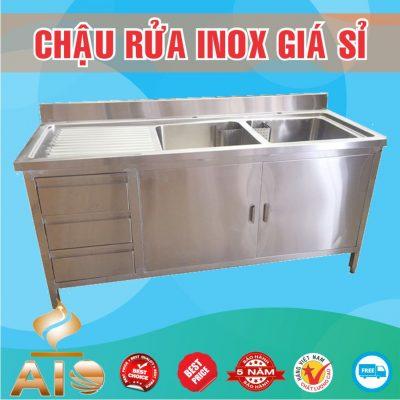 chau rua inox co tu gia re 400x400 - Bồn rửa inox khách sạn