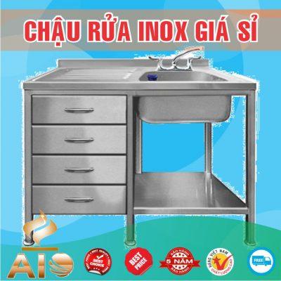 chau rua inox co tu trai 400x400 - Bồn rửa mặt inox