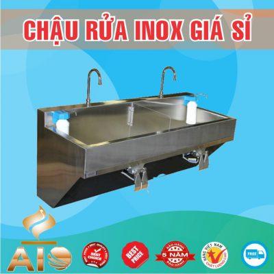 chau rua inox dap chan gia si 400x400 - Xưởng sản xuất chậu inox