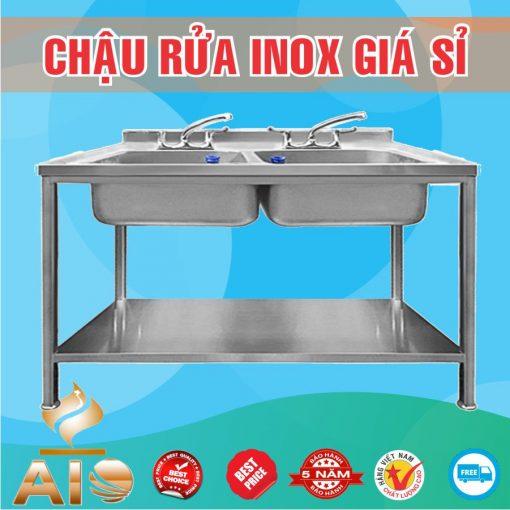 chau rua inox doi 510x510 - Bồn rửa inox 2 chậu