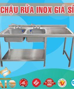 chau rua inox doi ban cho 247x296 - Bồn rửa inox có bàn chờ phải