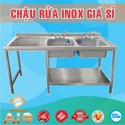 chau rua inox doi ban cho trai 400x400 - Bồn rửa inox có tủ
