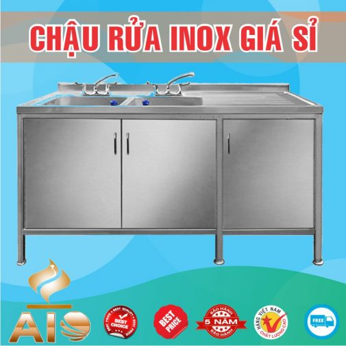 chau rua inox doi co tu ban cho phai 505x505 - Bán chậu rửa inox