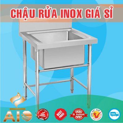 chau rua inox don 400x400 - Xưởng sản xuất chậu inox