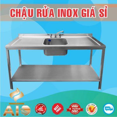 chau rua inox don ban cho 2 ben 400x400 - Bồn rửa mặt inox