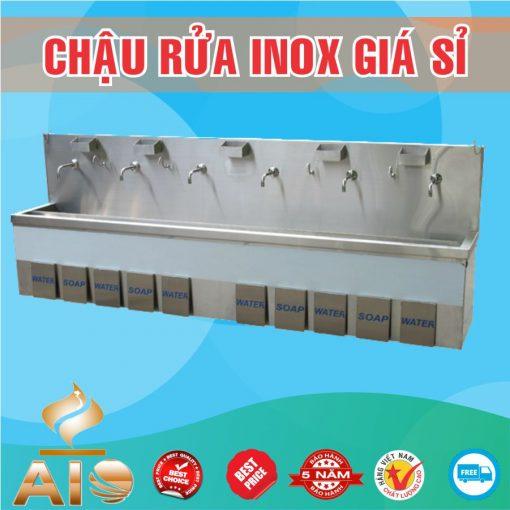 lam chau rua inox dap chan 510x510 - Bồn rửa inox bệnh viện