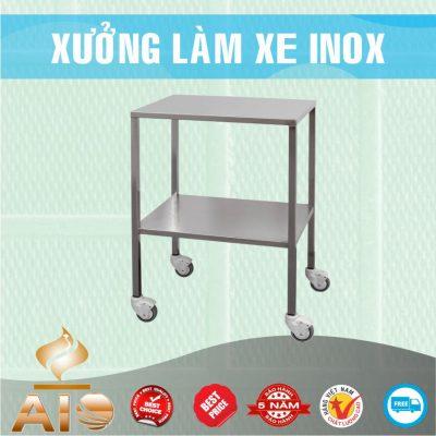 lam xe day inox 400x400 - Xe đẩy nhiều khay dùng trong ngành thực phẩm