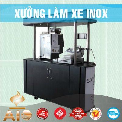 xe ban hang inox 400x400 - Xe đẩy inox dùng trong nhà hàng