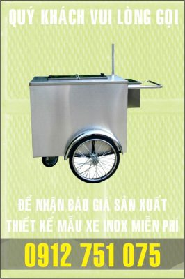 xe ban hang inox gia re 266x400 - Xe đẩy nhiều khay dùng trong ngành thực phẩm
