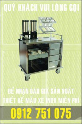 xe ca phe inox 266x400 - Xe đẩy inox dùng trong nhà hàng