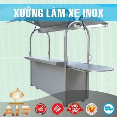 xe day ban hang 400x400 - Xe đẩy inox dùng trong nhà hàng