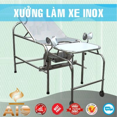 xe day benh nhan 400x400 - Xe đẩy inox dùng trong nhà hàng
