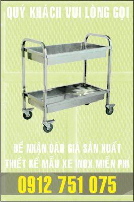 xe day benh vien 266x400 - Xe đẩy nhiều khay dùng trong ngành thực phẩm