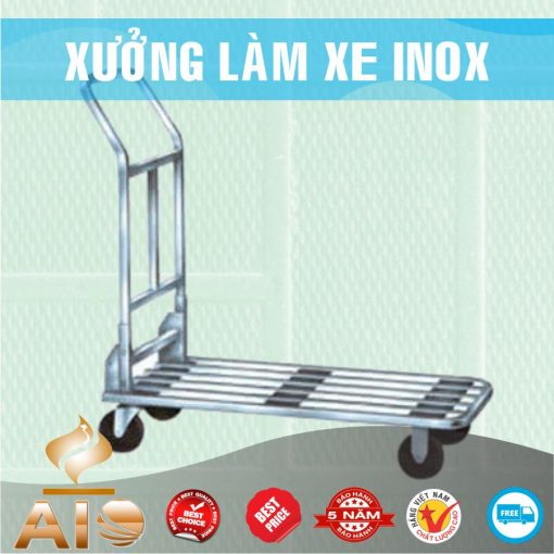 xe day hang inox 510x510 - Xe đẩy inox dùng trong nhà xưởng