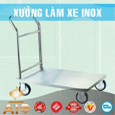 xe day inox 400x400 - Xe đẩy nhiều khay dùng trong ngành thực phẩm