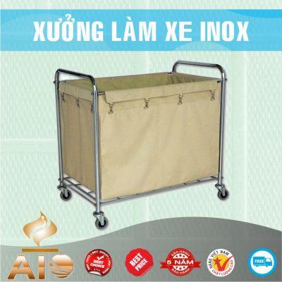 xe day inox vai 400x400 - Xe đẩy nhiều khay dùng trong ngành thực phẩm