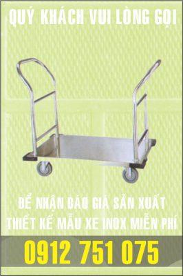 xe day khach san 266x400 - Xe đẩy inox dùng trong nhà hàng