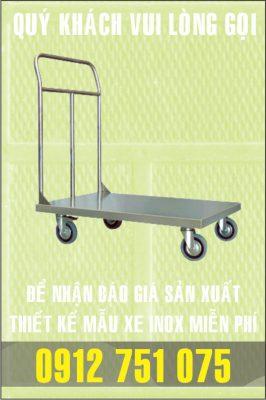 xe day kho hang 266x400 - Xe đẩy inox dùng trong nhà hàng