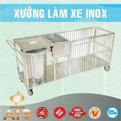 xe day thuc an 400x400 - Xe đẩy inox dùng trong nhà hàng