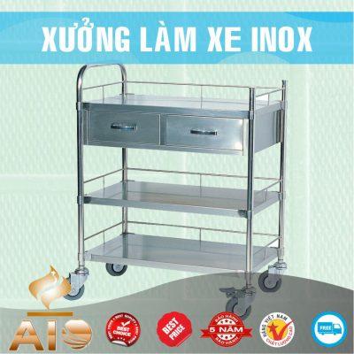 xe day thuoc y te 400x400 - Xe đẩy inox dùng trong nhà hàng