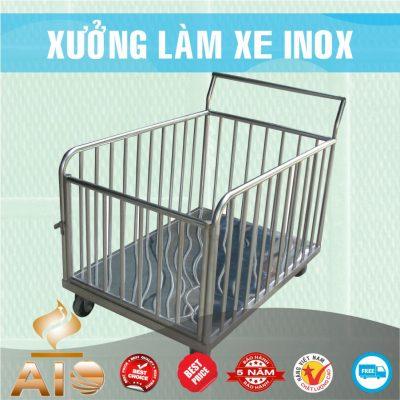 xe day vai inox 400x400 - Xe đẩy nhiều khay dùng trong ngành thực phẩm