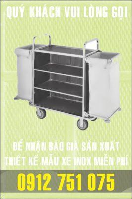 xe dung dung cu inox 266x400 - Xe đẩy nhiều khay dùng trong ngành thực phẩm