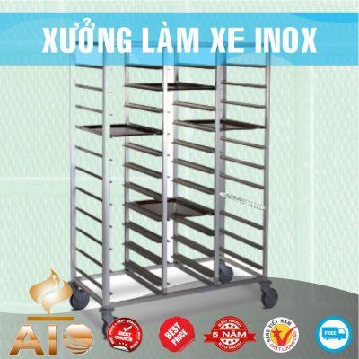 xe dung khay 400x400 - Xe đẩy inox dùng trong nhà hàng