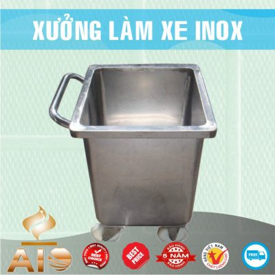 xe dung rac inox 400x400 - Xe đẩy nhiều khay dùng trong ngành thực phẩm