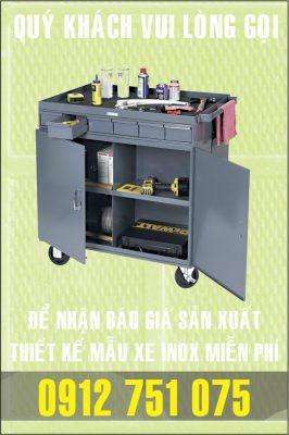 xuong lam xe inox gia re 266x400 - Xe đẩy inox dùng trong nhà hàng
