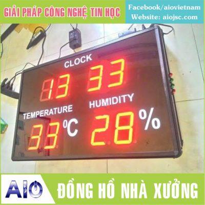 dong ho nha xuong 400x400 - Làm bảng led điện tử giá rẻ