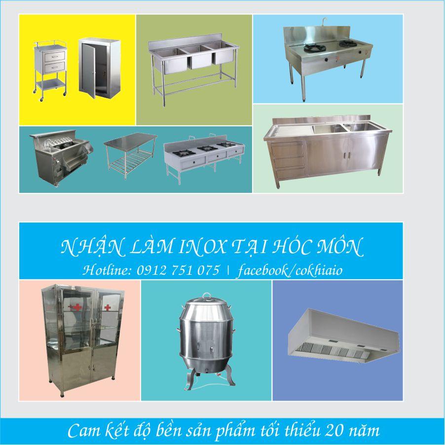 bep nha hang hoc mon - Chuyên gia công hàng inox,thiết bị bếp giá rẻ tại Hóc Môn