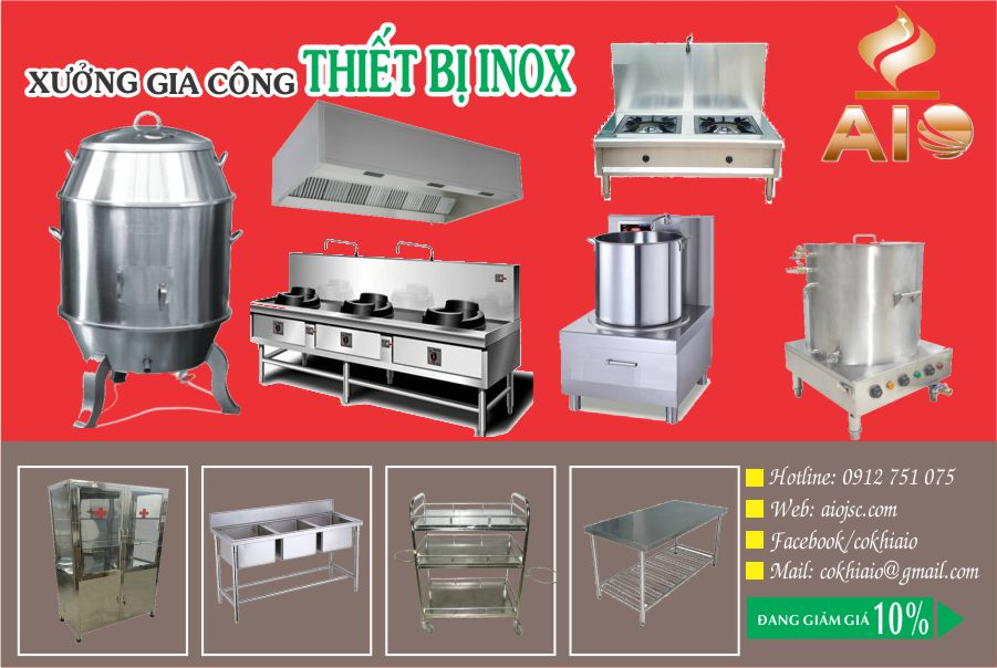 gia cong inox quan 10 - Gia công inox, thiết kế bếp nhà hàng quận 10