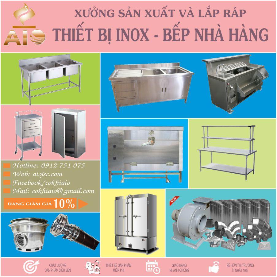 lam inox go vap - Nhận làm thiết bị inox,bếp nhà hàng tại Gò Vấp