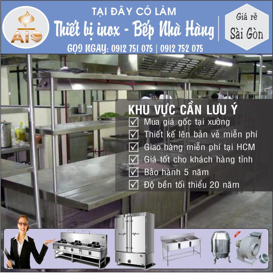 xuong lam inox bep nha hang - Thiết kế và sản xuất thiết bị nhà hàng, thiết bị inox